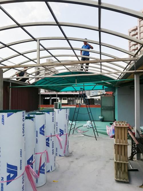 台北市中正區 採光罩工程