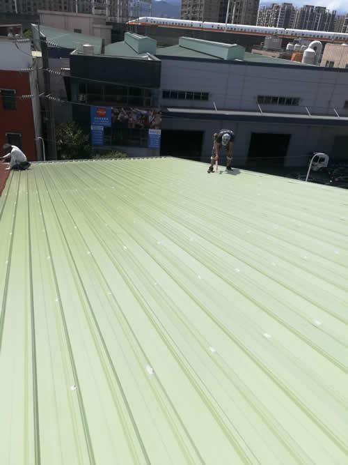 台北市新莊區黃大哥 屋頂浪板覆蓋