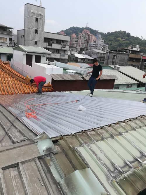 台北市士林區鐵皮屋頂-白鐵浪板覆蓋