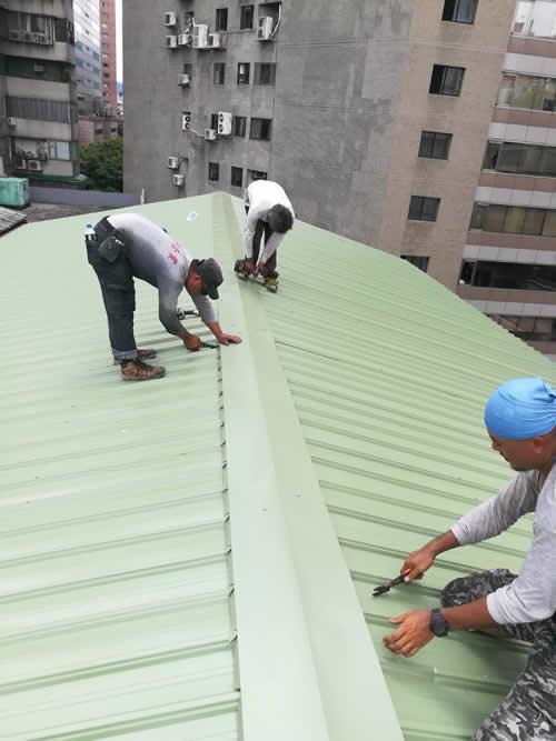 台北市 舊屋 鐵皮屋頂翻修